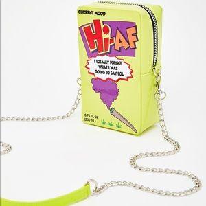 Hi AF crossbody purse (Brand New)